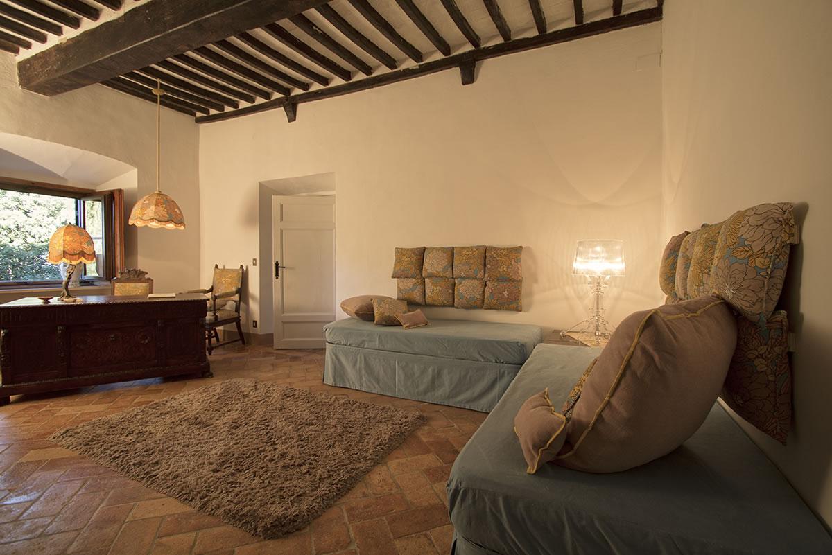 Le Camere Della Villa Ulignano In Toscana Villa A Volterra Toscana